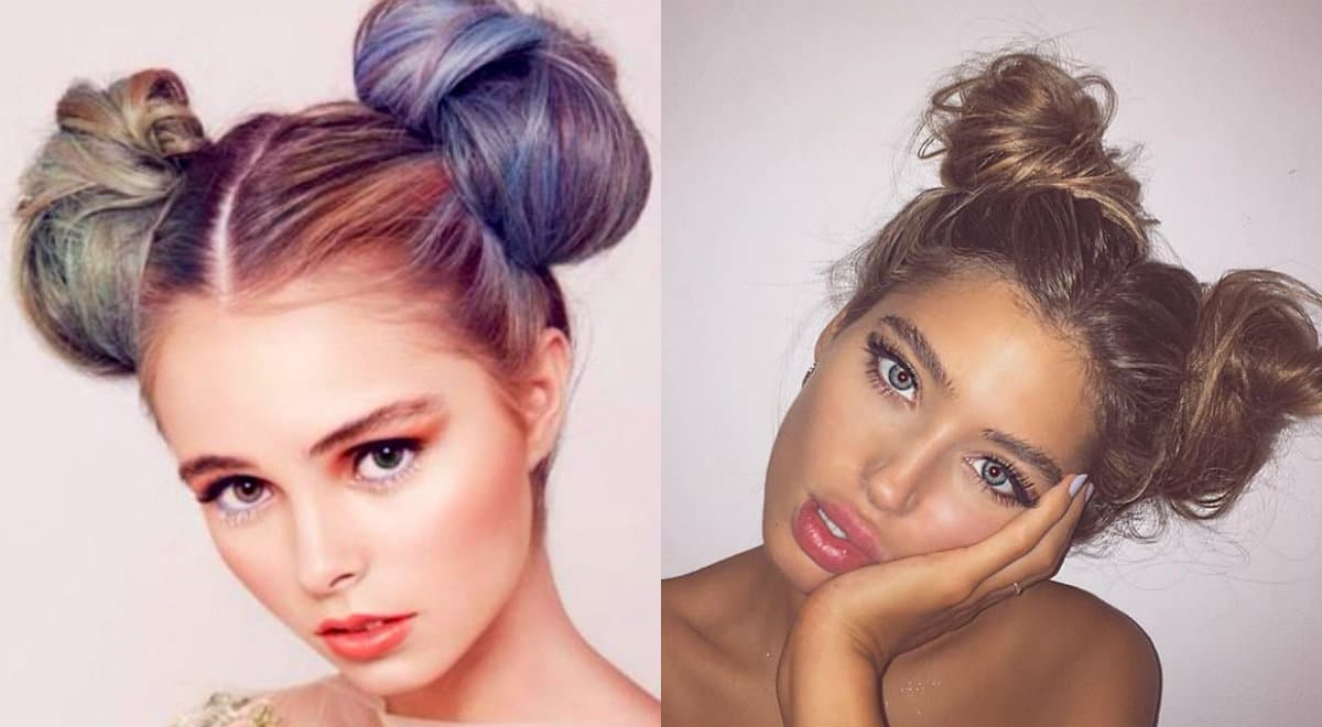 double-low-bun-hairstyle-1